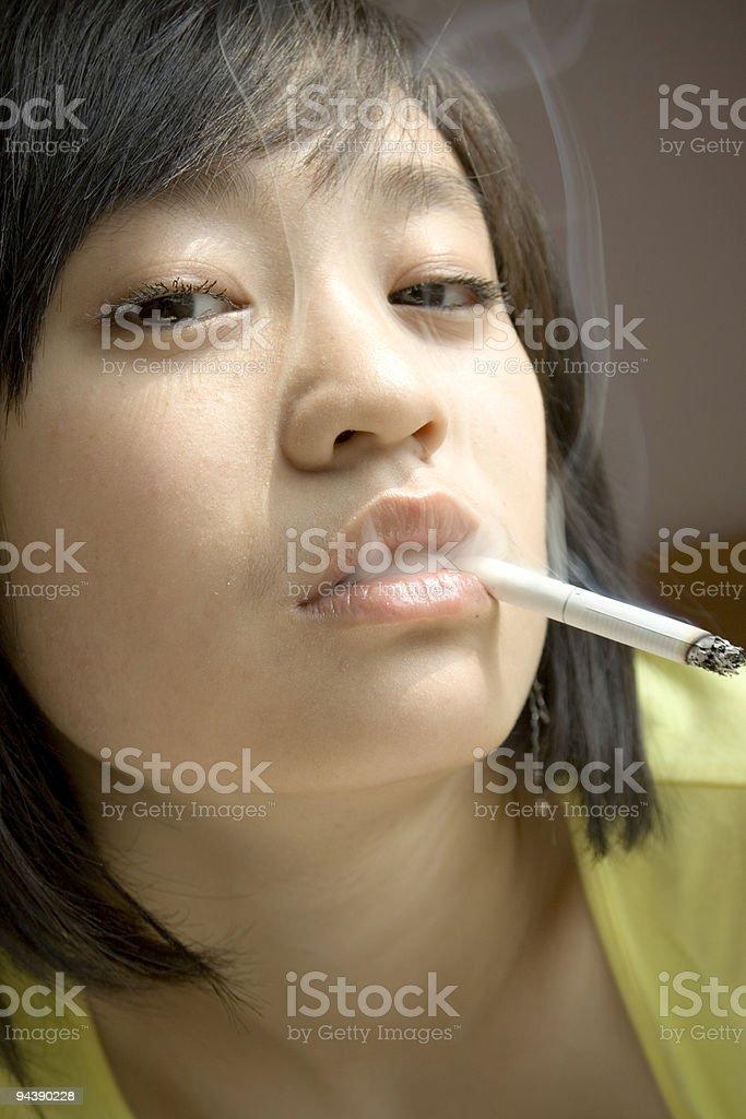 Young Girl Smoking Stock Photo - Download Image Now - Istock-9393