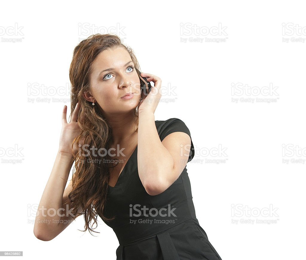 Young girl speak by mobile. royalty-free stock photo