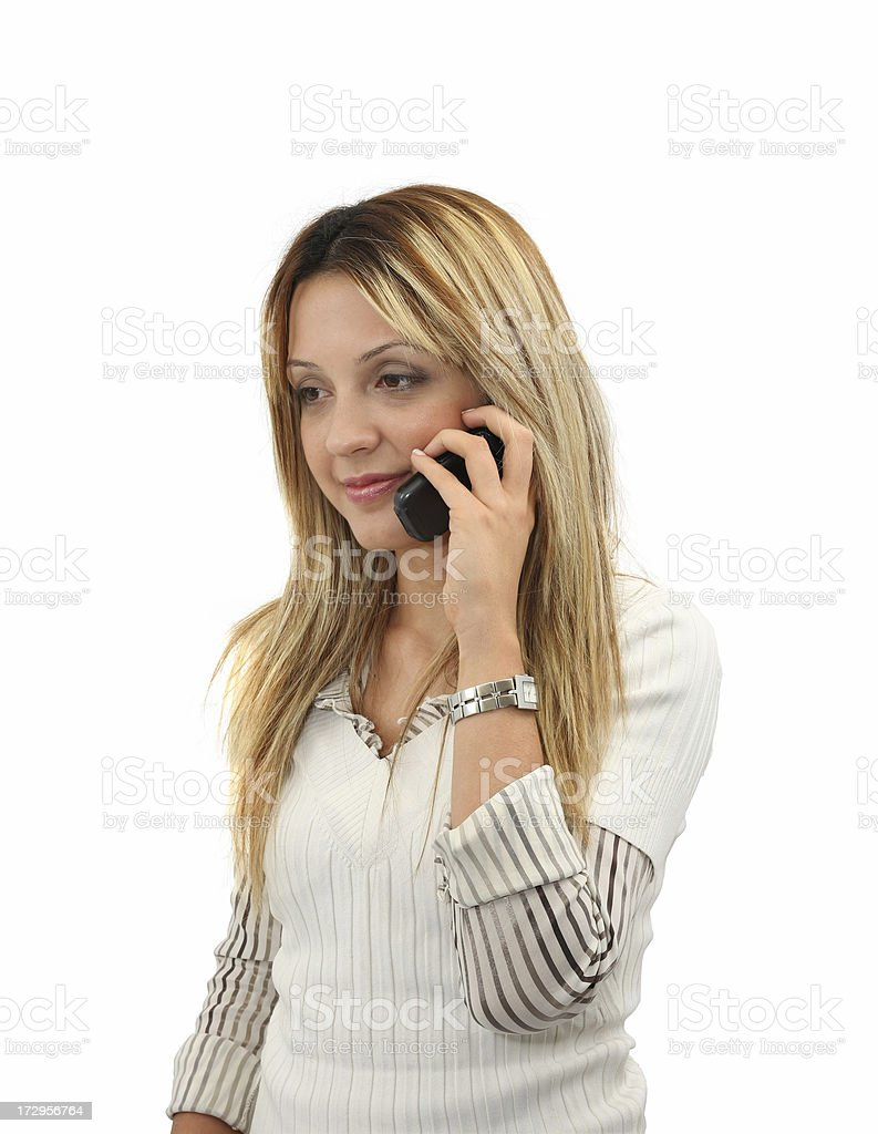Young Girl Talking On The Cell Phone royalty-free stock photo