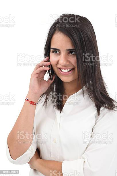 Young Girl Talking On The Cell Phone Stock Photo - Download Image Now