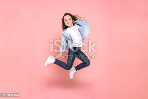 istock Young girl teen youth trends studio portrait 827884160
