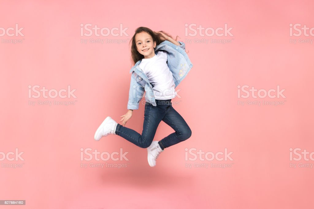 Young girl teen youth trends studio portrait stock photo
