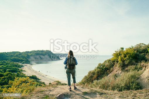 Woman enjoying nature