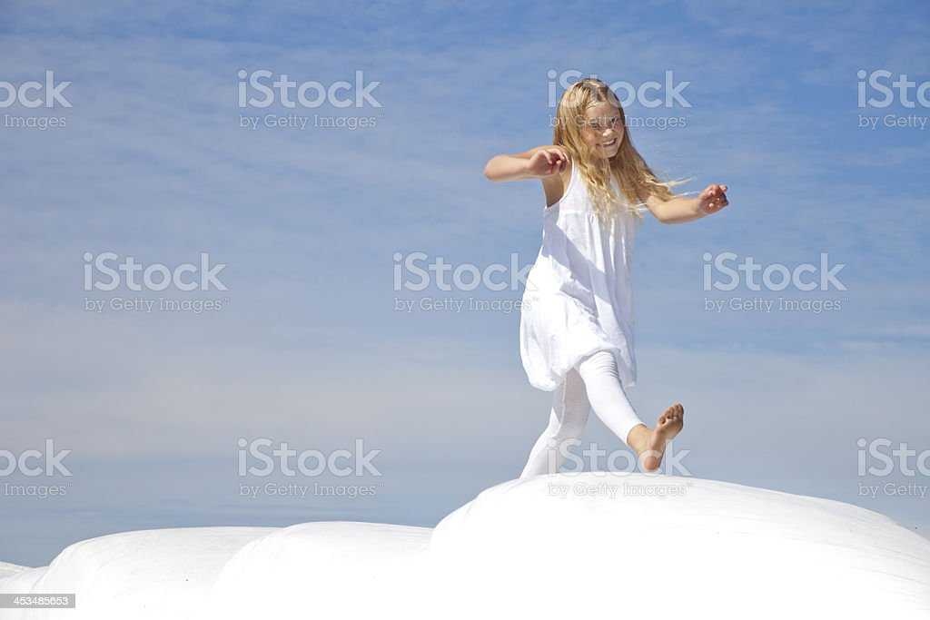Young girl walking royalty-free stock photo