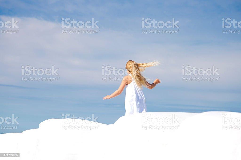 Young girl walking royalty-free stock photo