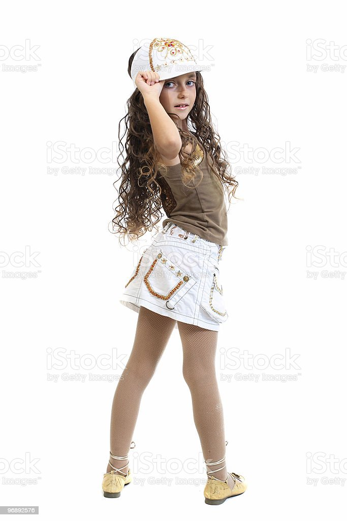 Young girl with attitude stock photo