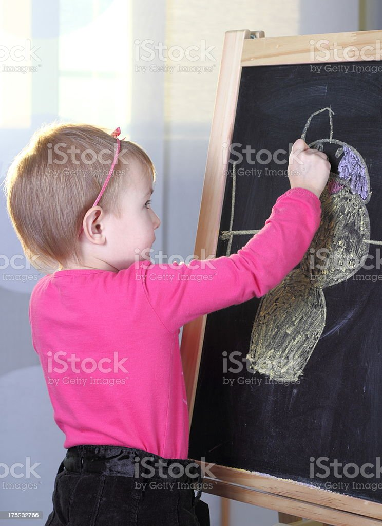 Young girl with blackboard royalty-free stock photo