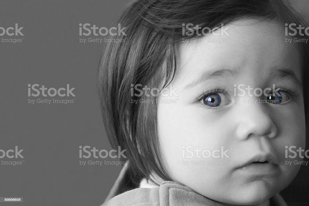 Chica joven con ojos azules foto de stock libre de derechos