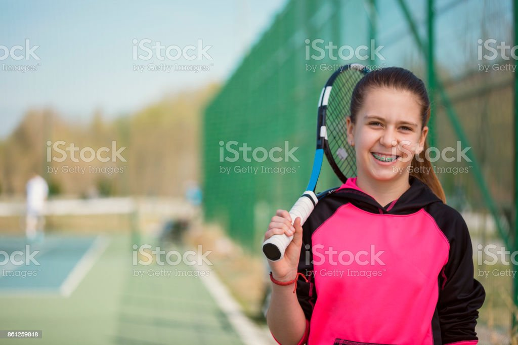Young Girl With Braces Posing royalty-free stock photo