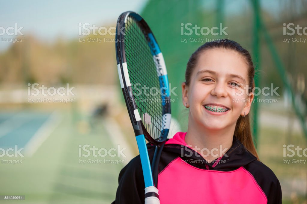 Young Girl With Braces Posing stock photo
