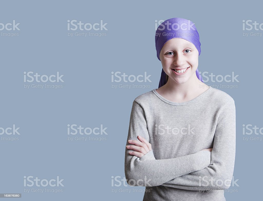 Young Girl with Cancer stock photo