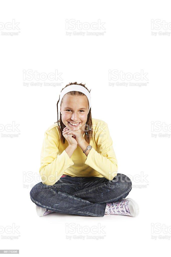 Giovane ragazza con dreads foto stock royalty-free