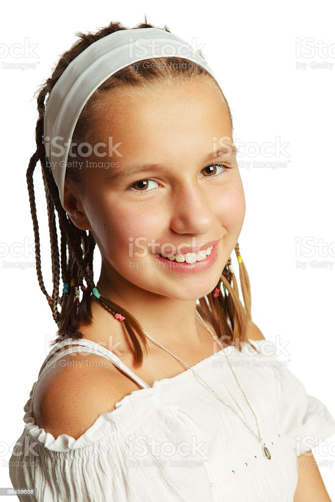 Young girl with dreads royalty-free stock photo