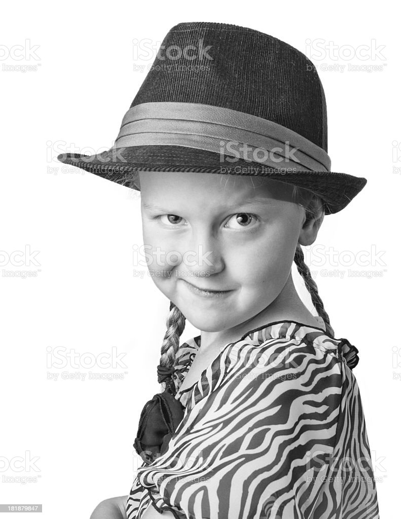 Young Girl with hat royalty-free stock photo