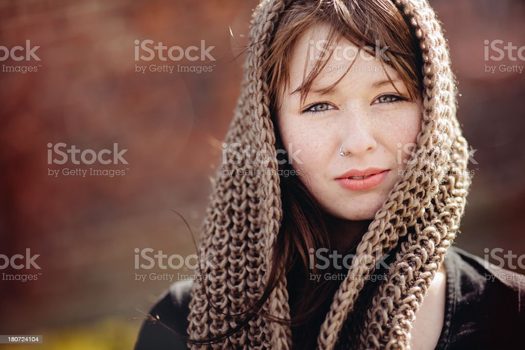 Young Girl with headscarf royalty-free stock photo
