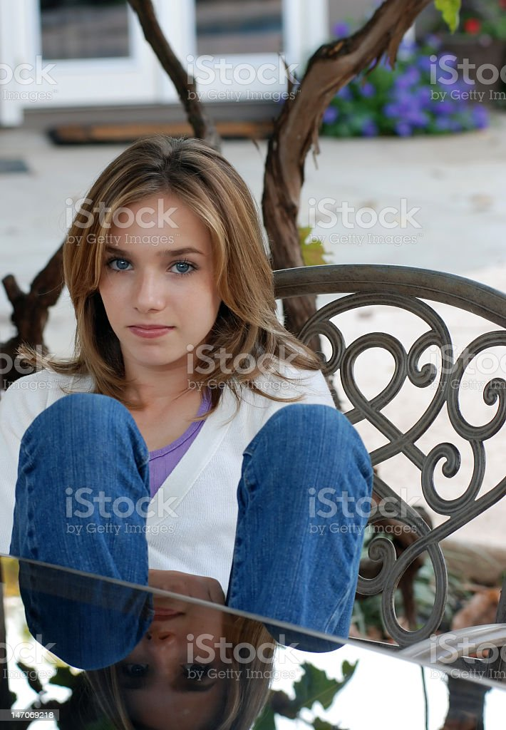 Young Girl with Jeans royalty-free stock photo