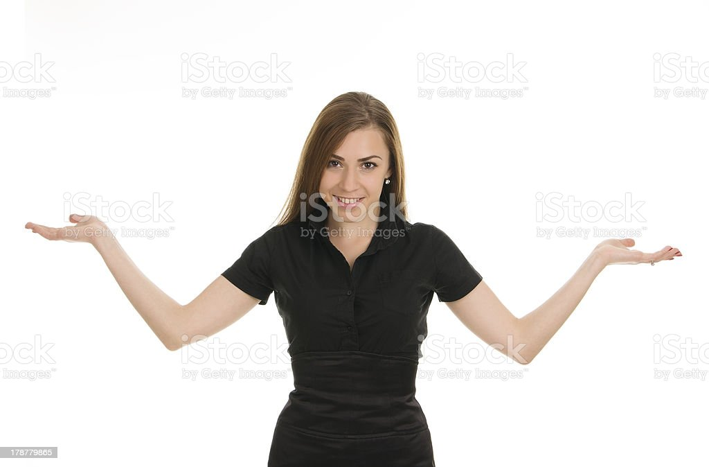 Young girl with money royalty-free stock photo