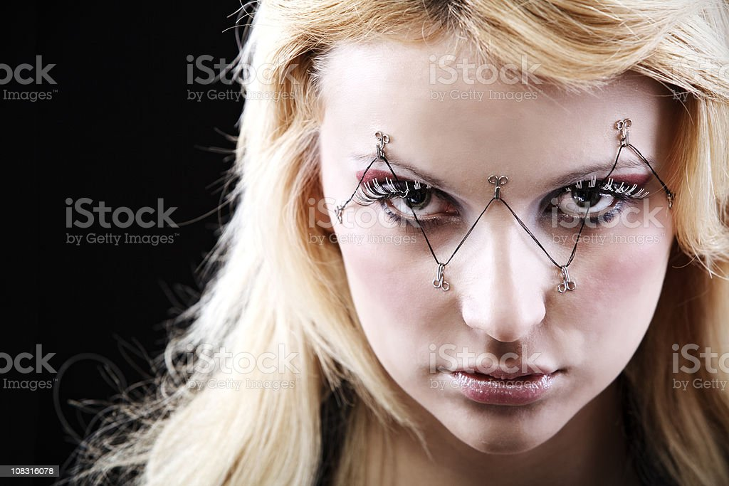 Young girl with ornate makeup royalty-free stock photo