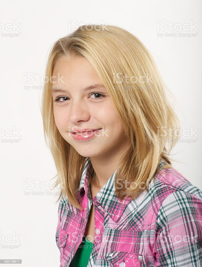 Young girl with smile stock photo
