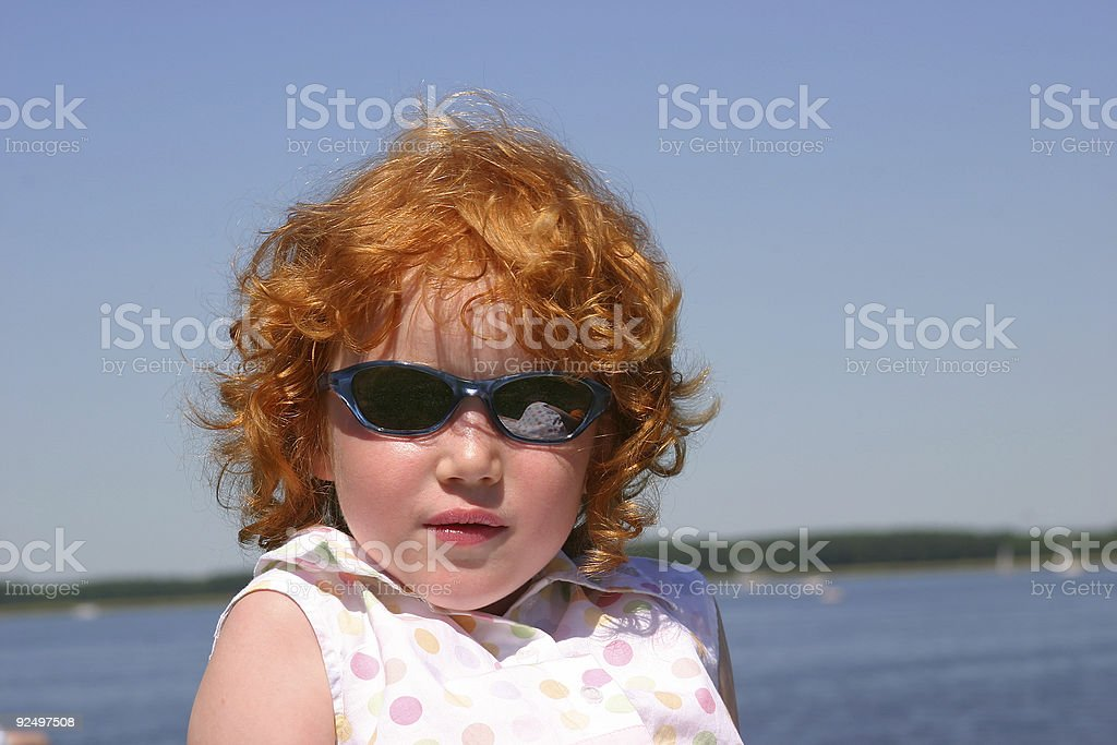 Young girl with sunglasses royalty-free stock photo