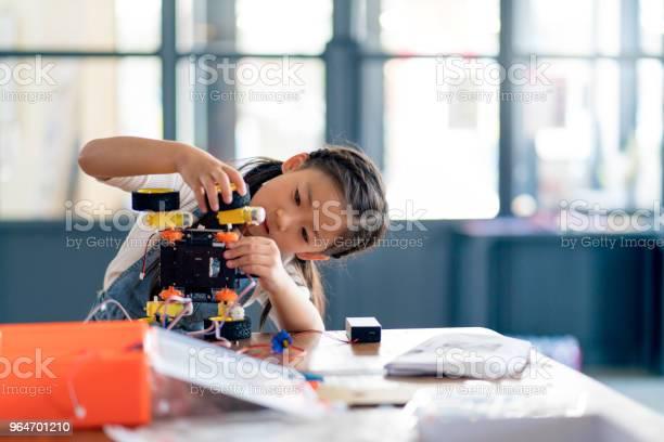 Young girl working on a robot design picture id964701210?b=1&k=6&m=964701210&s=612x612&h=ycg6 1av0bremp1orfqnplcgt8vueduvlreyokgw4gi=