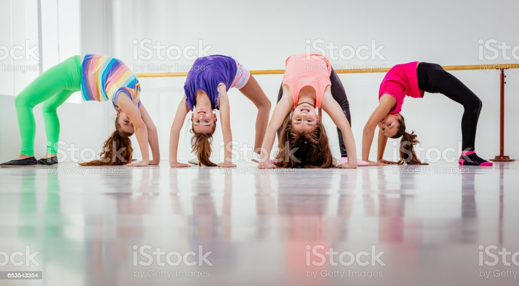 Young Girls Dancers stock photo