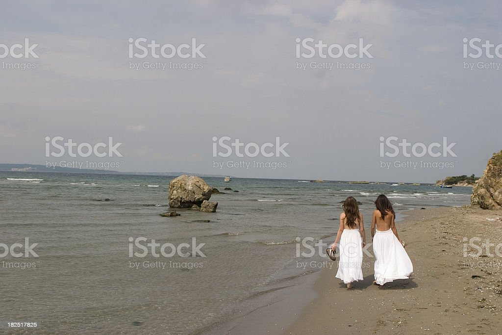 Young girls stock photo