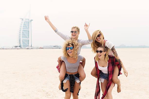 young girls. - dubai urlaub stock-fotos und bilder