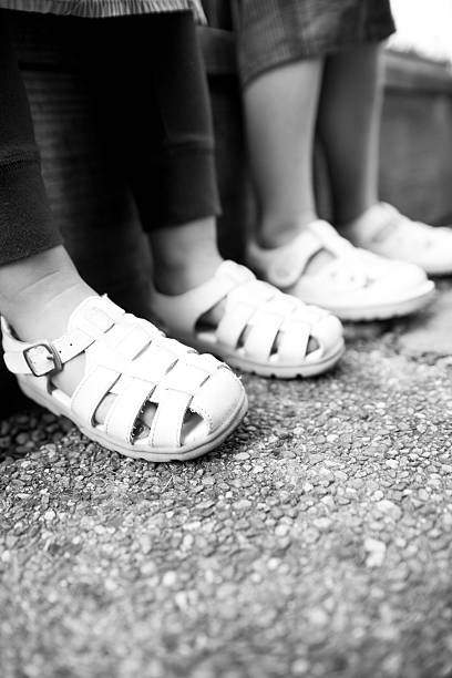 BW Young Girls Sandals stock photo