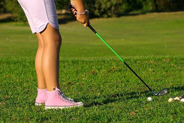 young golf player stock photo
