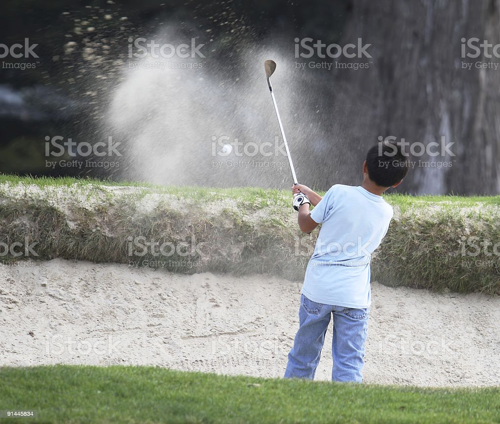 Young Golfer stock photo