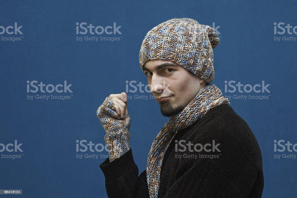 Junger Mann in winter Lizenzfreies stock-foto
