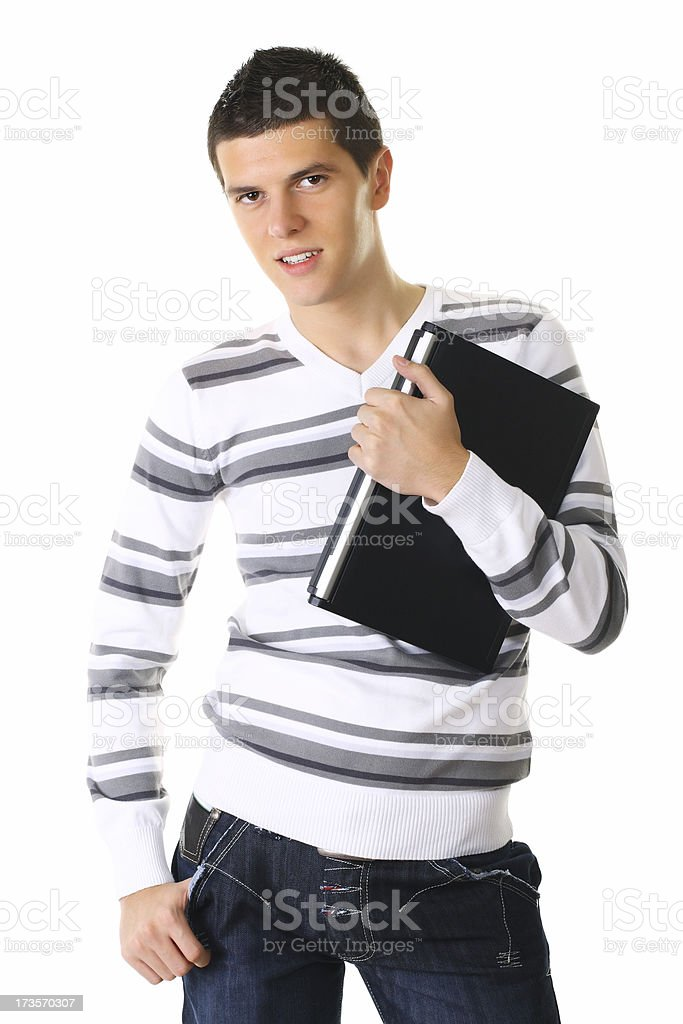 Young Guy With Laptop royalty-free stock photo