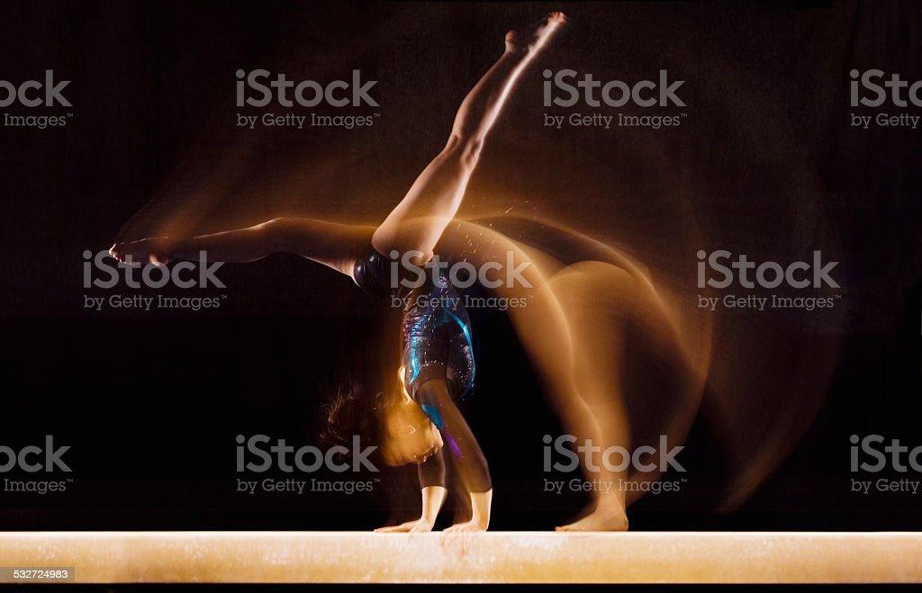 Young Gymnast stock photo