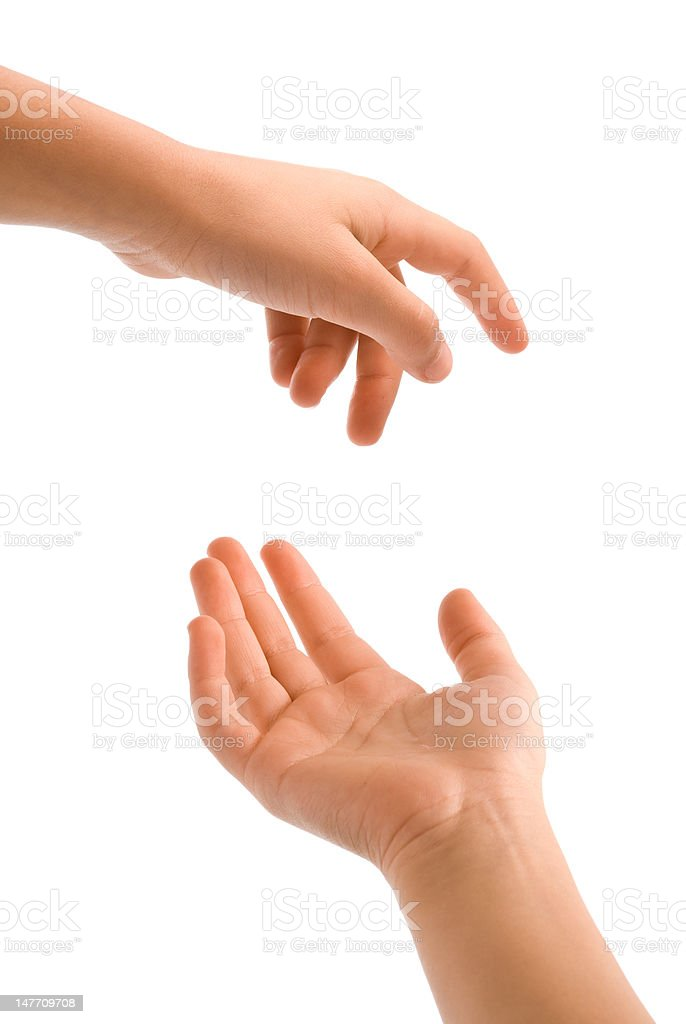 young hand actions stock photo