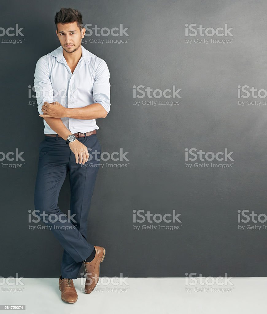 Young, handsome and in charge stock photo
