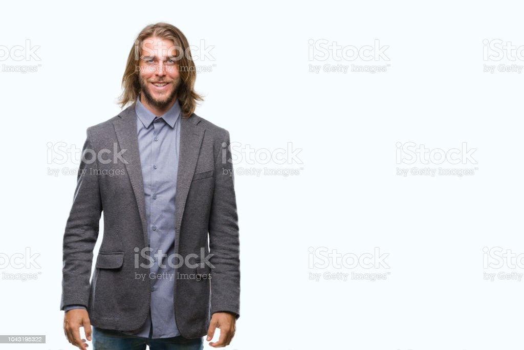 Mann mit langen haaren model