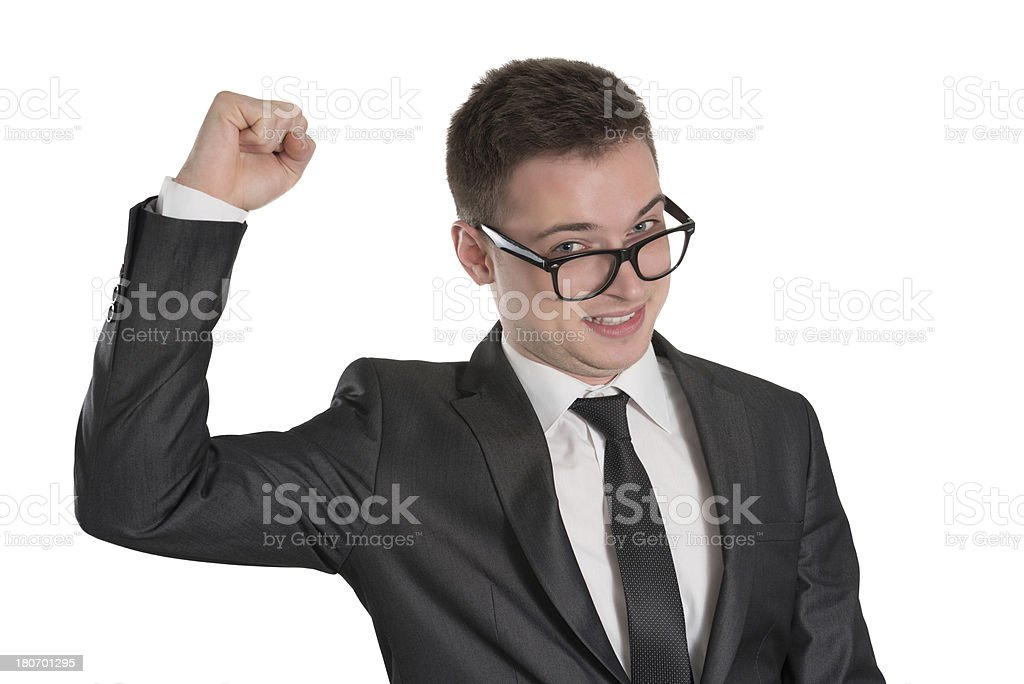 Young Handsome Businessman Excited About His Success royalty-free stock photo