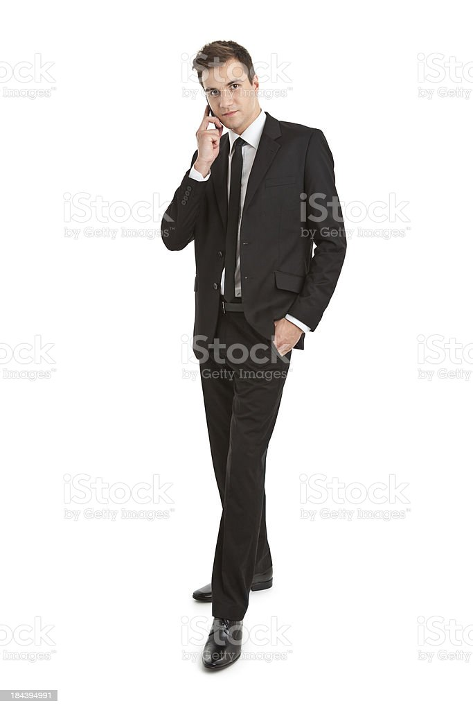 young handsome businessman on the phone royalty-free stock photo