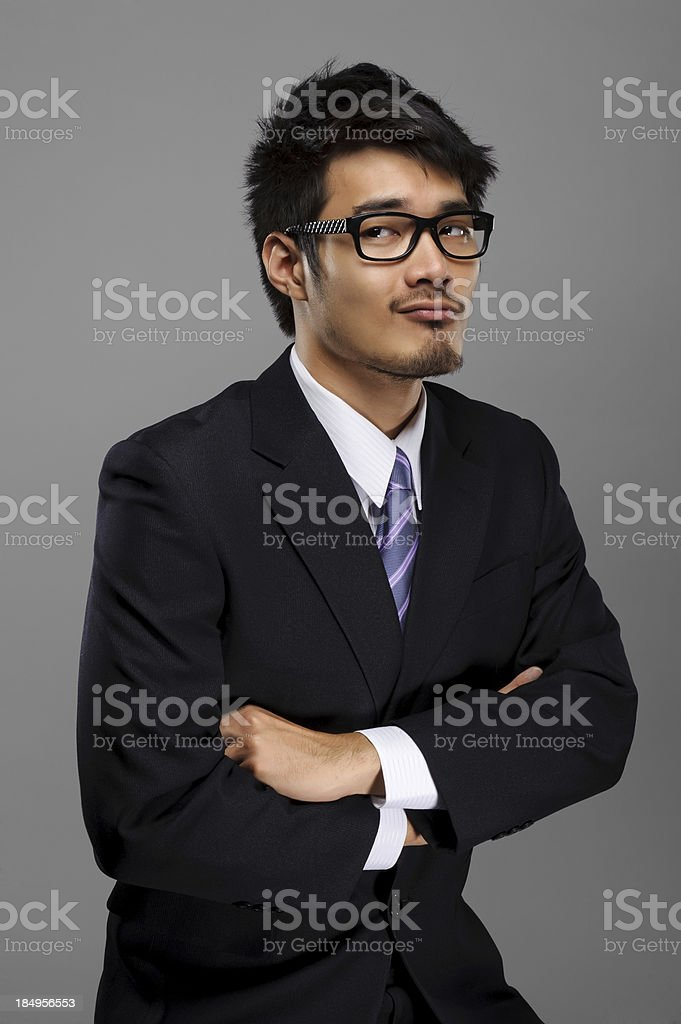Young handsome businessman royalty-free stock photo