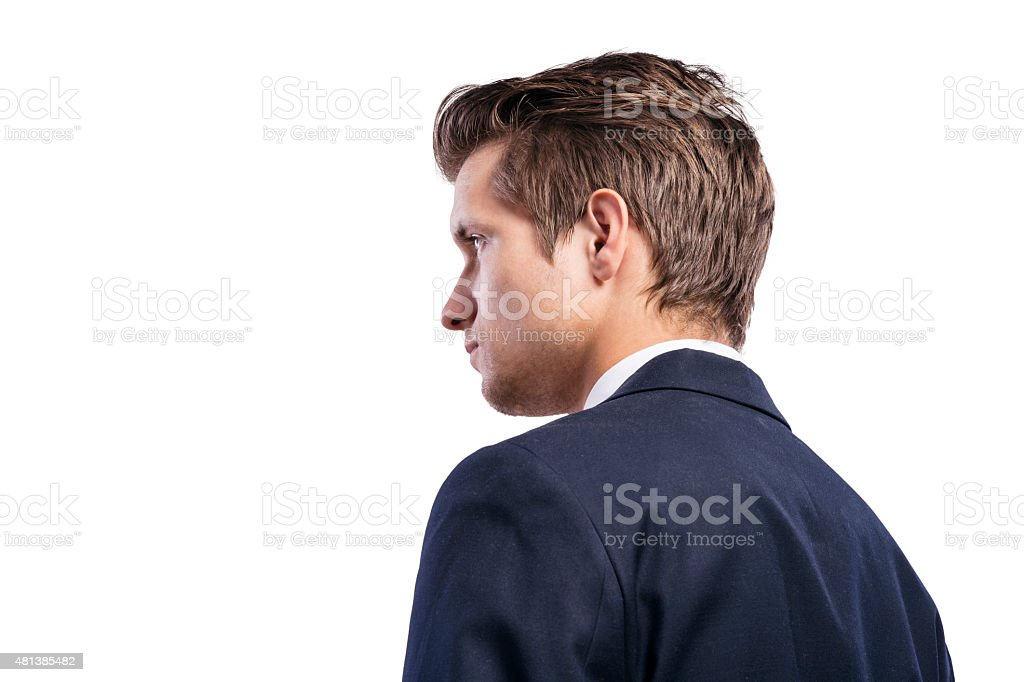 Young handsome businessman. stock photo