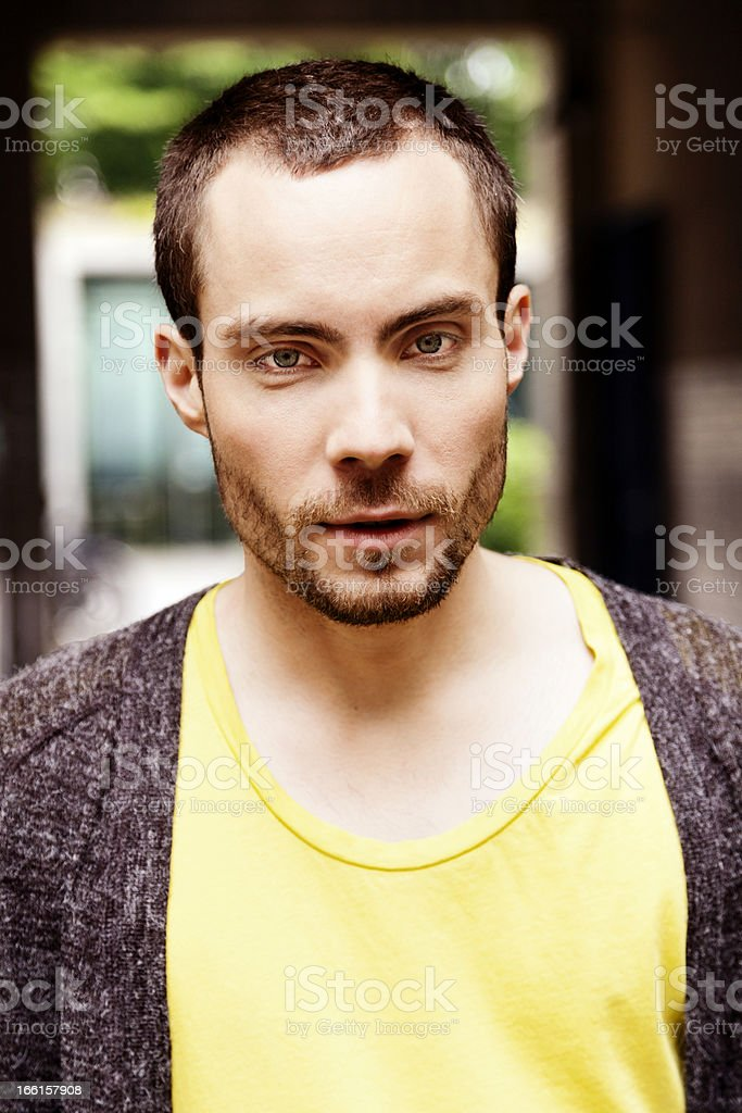 Young Handsome Confident Man Portrait royalty-free stock photo