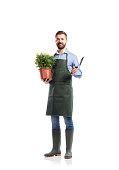 istock Young handsome gardener 506883438