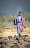 portrait of a young maasai warrior