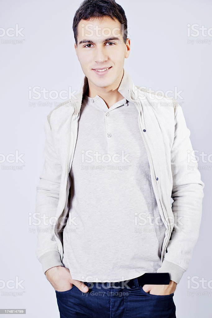 Young handsome man. royalty-free stock photo