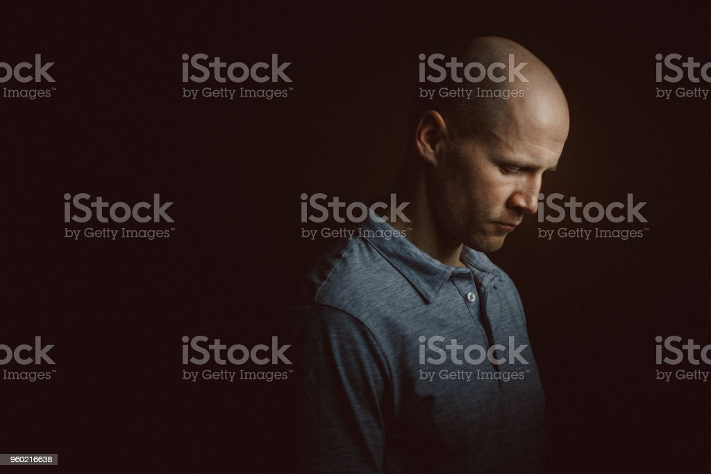 Young handsome man portrait stock photo
