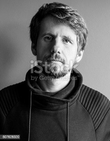 istock Young handsome man. Studio fashion portrait. 507628320