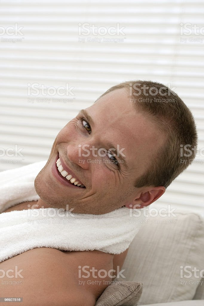 Young handsome man with big smile royalty-free stock photo