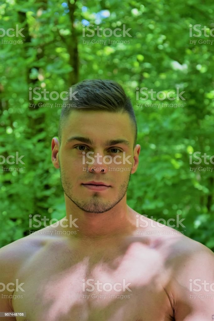 Young Handsome Naked Man Portrait Royalty Free Stock Photo