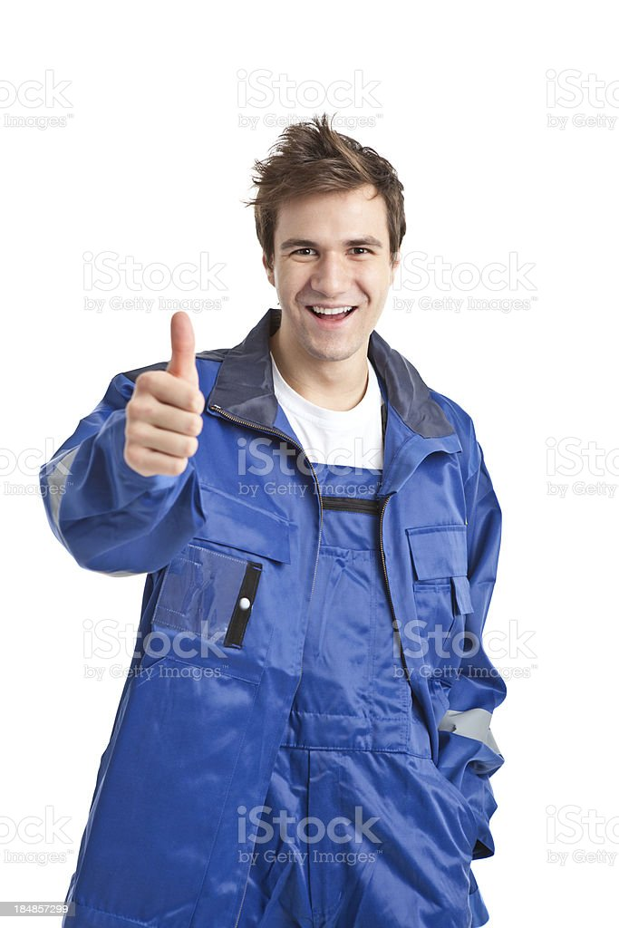 young handsome worker royalty-free stock photo